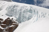 Dangerous glacier in the mountains — Stock Photo