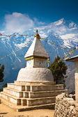 Buddhist stupa with prayer flags. Nepal — Stok fotoğraf