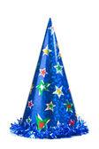 Sombrero del partido azul — Foto de Stock