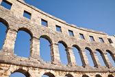 Wall of the coliseum in Pula. Croatia — Stock Photo