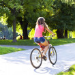 Stock Photo: Girl on bike