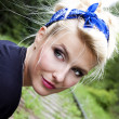 Summer pinup girl, portrait — Stockfoto