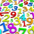 colorful numbers background — Stock Photo