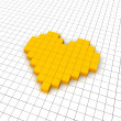 Royalty-Free Stock Photo: Heart 3d icon in grid