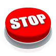Stop round button 3d — Stock Photo