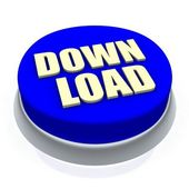 Download round button 3d — Stock Photo