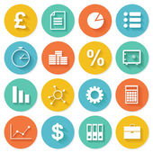 Business Flat icons set for Web and Mobile — Stock Vector