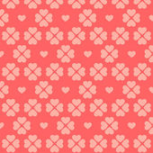 Seamless pink heart pattern — Vettoriale Stock