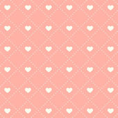 Seamless pink heart pattern — Stock Vector