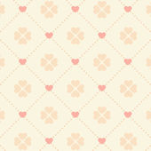 Seamless pink heart pattern — Stock Vector
