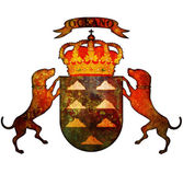 Canary islands coat of arms — Stock Photo