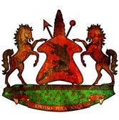 Lesotho coat of arms — Stock Photo