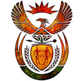 South africa coat of arms — Stok fotoğraf