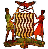Zambia coat of arms — Stock Photo