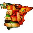 Administration map of spain — Stock Photo