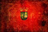 Flaggan av santiago de compostela — Stockfoto