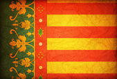 Flag of valencia — Stock Photo