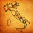 Map of italy with veneto region — Stock Photo