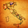 Map of italy with south tyrol region — Stockfoto #21175021