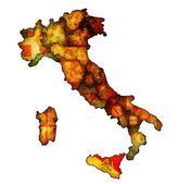 Map of italy with sicilyregion — Stock Photo
