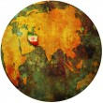 Iran on globe map — Stock Photo