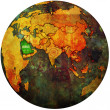 Saudi arabia on globe map — Stock Photo #25717177