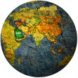 Saudi arabia on globe map — Stock Photo #25717211