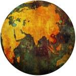 Vietnam on globe map — Stock Photo #25718015