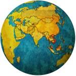 Vietnam on globe map — Stock Photo #25718073