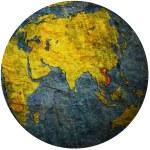 Vietnam on globe map — Stock Photo #25718075