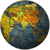 Oman na mapie świata — Zdjęcie stockowe