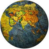 Pakistan on globe map — Stock Photo