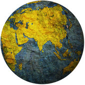 South korea on globe map — Stock Photo