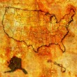 Alaska on map of usa — Stock Photo #30953655