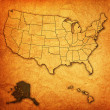 Alaska on map of usa — Stock Photo #30953683