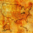 Kentucky on map of usa — Stock Photo