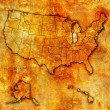 Stock Photo: Iowon map of usa
