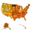 North dakota on map of usa — Stock Photo