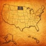 North dakota on map of usa — Stock Photo #31235589