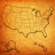 Rhode island on map of usa — Stock Photo