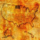 North dakota on map of usa — Stock Photo
