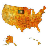 South dakota on map of usa — Stock Photo