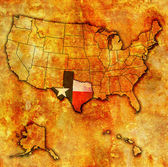 Texas no mapa dos eua — Foto Stock