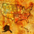 Alaska on map of usa — Stock Photo #36325797