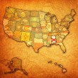 Alabama on map of usa — Stock Photo