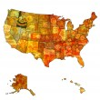 Idaho on map of usa — Stock Photo