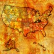 Kentucky on map of usa — 图库照片
