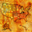 Stock Photo: Kentucky on map of usa