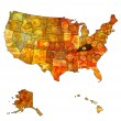 Kentucky on map of usa — Stock Photo #36326541