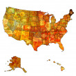 Maine on map of usa — Stock Photo